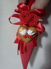 decorazione sacchetto matrimonio in fimo