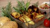 Deutsche Küche ofen kartoffeln Backofen Rezept Knoblauch Thymian Rosmarin