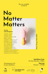 No Matter Matters contemporary jewelry design Anne Goy  Milan design week