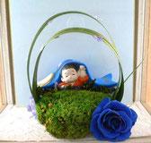 プリザと五月人形のコラボレーション
