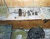 松井本和蝋燭工房の削り