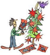 Weihnachtssterne-Basteln
