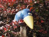 Vogel als Gartendekoration