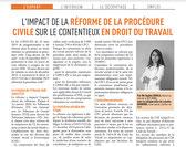 Article de Presse de Sophie GOMILA, avocat chez WABG Avocats & Associés