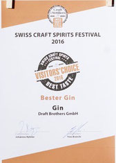Best Obstbrand für Williams 2015 bei Swiss Crafts Spirits Festival