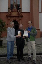 Matthias Schmidt (NABU); Pater Ludwig Müller; Dirk Niethammer (NABU)