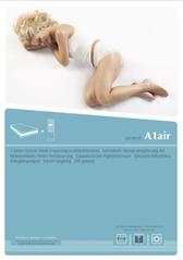"""Prospekt zum Luftbett A1air, die Matratze zur Initiative """"Besser schlafen im Hotel""""."""