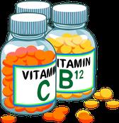 Vitamine und Mineralien sind wichtig.