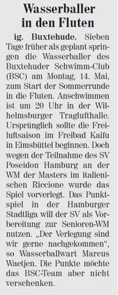 Neue Buxtehuder Wochenblatt vom 12.05.2012