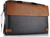 Edle Business 16 Zoll Laptoptasche aus Leder für Männer aus Faux