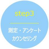 ステップ3測定・アンケート・カウンセリング