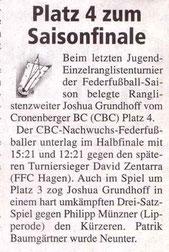 Cronenberger Woche Bericht vom 24.09.2005 Jugend RLT