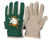 """Kinder-Gartenhandschuhe """"Igel"""" - niedliche Handschuhe für den Schutz der kleinen Hände bei der Gartenarbeit bei the-golden-rabbit.de"""