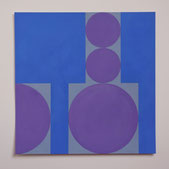 Ellen Roß: squares&circles n°10, 2018, 24 x 24 cm, Vinyl auf Bütten