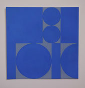 Ellen Roß: squares&circles n°9, 2018, 24 x 24 cm cm, Vinyl auf Bütten