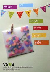 Druckatelier46 - Geburtstagskarte mit Konfetti