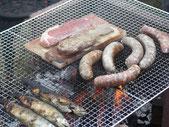 岩塩板を使って焼いたお肉