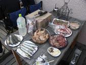 GW恒例BBQ。こんな食材で…