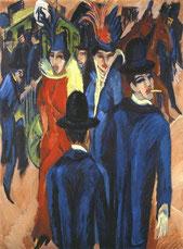 Ernst Ludwig Kirchner: Berliner Straßenszene, 1913