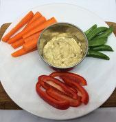 200kcals Example - Hummus & Veg Sticks
