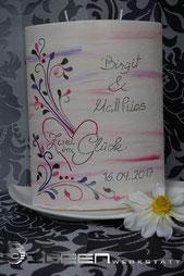 Hochzeit pink und lila