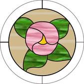 バラのデザインのウィンドウ・チャーム