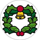 クリスマス(12月25日)に飾るウィンドウ・チャーム