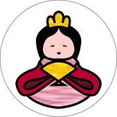 3月3日(お雛さま)に飾るウィンドウ・チャーム