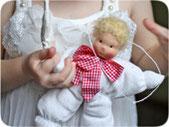 ангел для малыша в вальдорфском стиле подарок на рождение