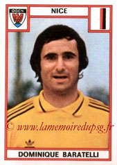 N° 194 - Dominique BARATELLI (1975-76, Nice > 1978-85, PSG)