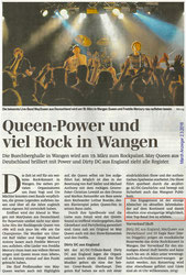 Rockkonzert Wangen SZ Artikel Machanzeiger 2.3.2016