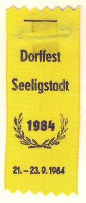 Bild: Seeligstadt Chronik 1984