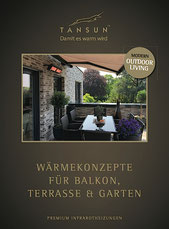 TANSUN Wärmestrahler Balkon Terrasse Garten