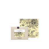 Blumenwiese schwarz-weiß