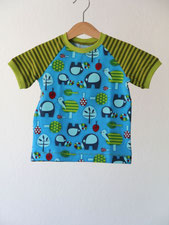Lumpenprinzessin T-Shirt Elefanten blau grün