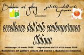 Io tra i 20 artisti che esporranno nella mostra collettiva d'arti visive  ECCELLENZE DELL'ARTE CONTEMPORANEA ITALIANA.
