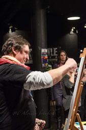 Art battle Genova .   Presso il teatro la Claque 14 febbraio 2018