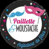 logo paillette et moustache