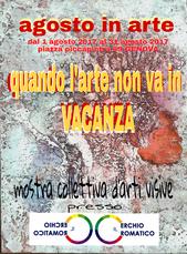 Mostra collettiva presso la galleria il Cerchio cromatico di Genova.  6 mie opere in esposizione