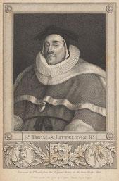 Judge Sir Thomas de  Lyttleton; c1407– 1481 - image from Wikipedia