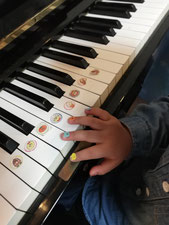 どれみ音楽教室 5本指の独立 ピアノの導入 どれみらぼ シール