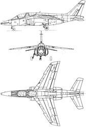 Alphajet de la patrouille de france