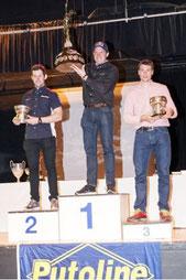 SSDT 2014: 1. Dougie Lamkin (m), 2. James Dabill (l), 3. Sam Connor (r). Image: www.todotrial.com