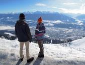 Der Blick von der Nordkette aus Innsbruck ist beeindruckend – besonders im Winter. Foto: C. Schumann