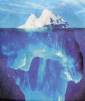 Hat viel untenrum - der Eisberg