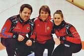 Martin Rios, Coach Manuela Netzer-Kormann, Jenny Perret