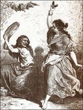 """Zigeunerin aus Granada"" v. G. Doré"
