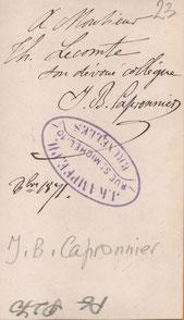 1871 - Handtekening van Jean-Baptiste Capronnier