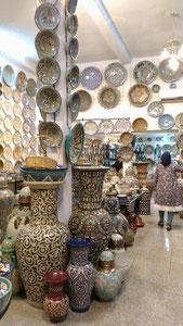 素敵なデザインの陶器がいっぱいのお店