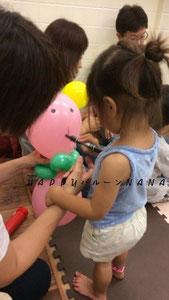 ワークショップ 出張 訪問 バルーンアート 子供